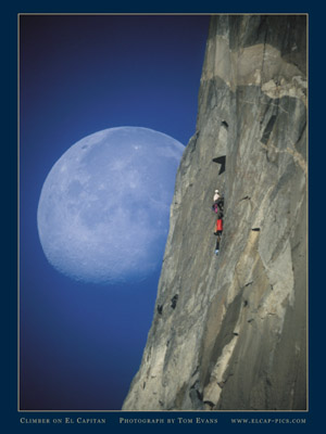 Climber and the Moon poster I have for sale.